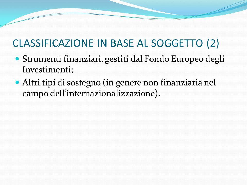 CLASSIFICAZIONE IN BASE AL SOGGETTO (2)