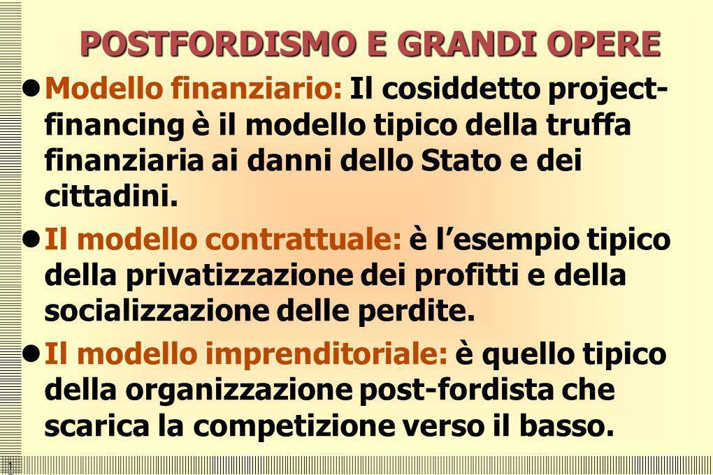 POSTFORDISMO E GRANDI OPERE