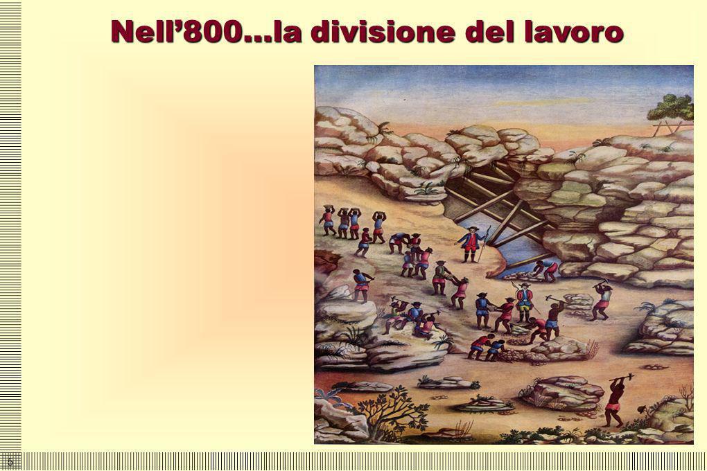 Nell'800…la divisione del lavoro