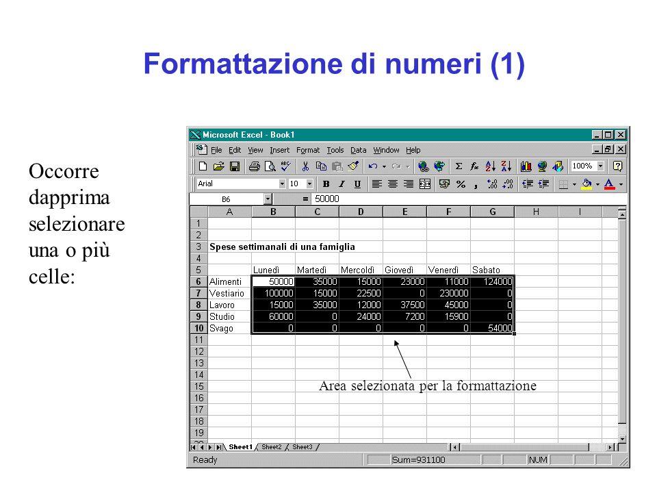Formattazione di numeri (1)