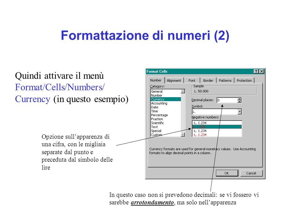 Formattazione di numeri (2)