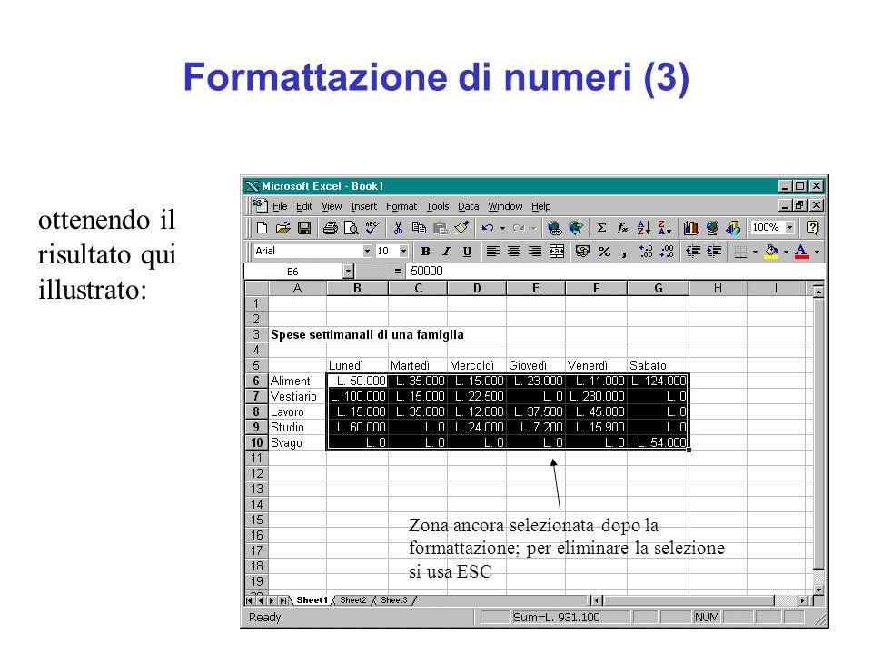 Formattazione di numeri (3)