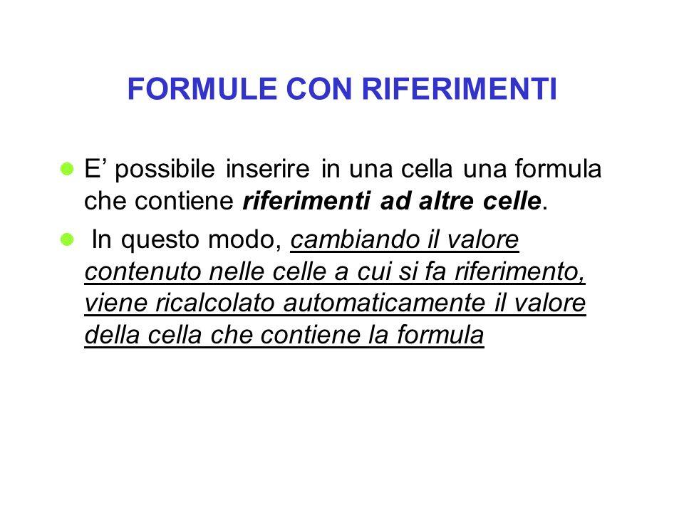 FORMULE CON RIFERIMENTI
