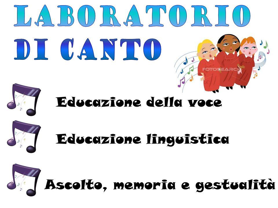 Laboratorio di canto Educazione della voce Educazione linguistica