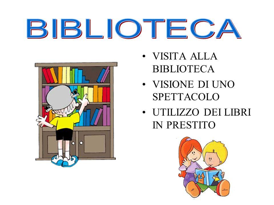 BIBLIOTECA VISITA ALLA BIBLIOTECA VISIONE DI UNO SPETTACOLO