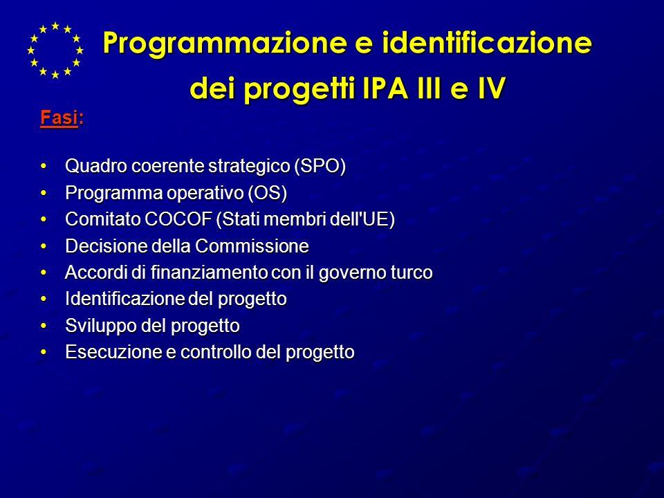 Programmazione e identificazione dei progetti IPA III e IV