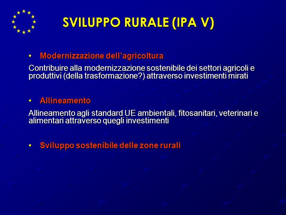 SVILUPPO RURALE (IPA V)