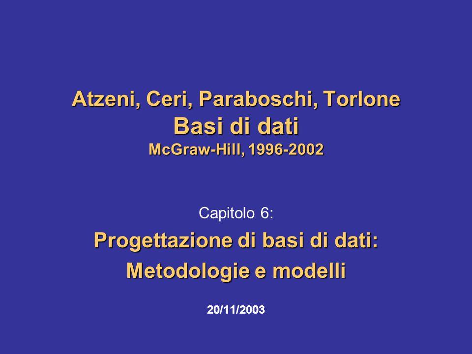 Atzeni, Ceri, Paraboschi, Torlone Basi di dati McGraw-Hill, 1996-2002