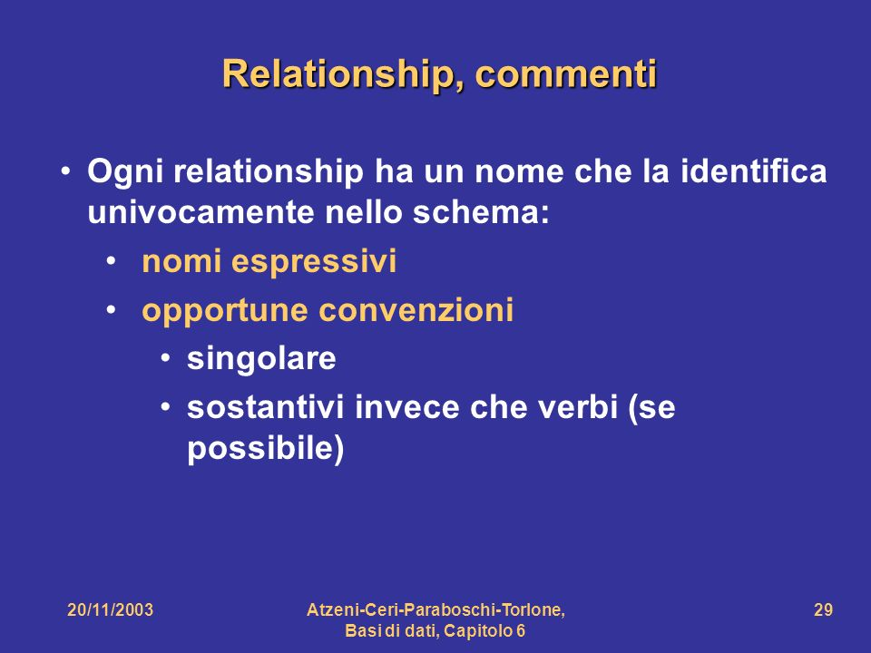 Relationship, commenti