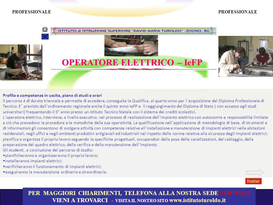 OPERATORE ELETTRICO – IeFP