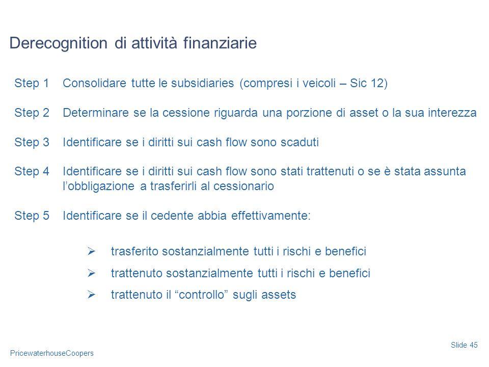 Derecognition di attività finanziarie
