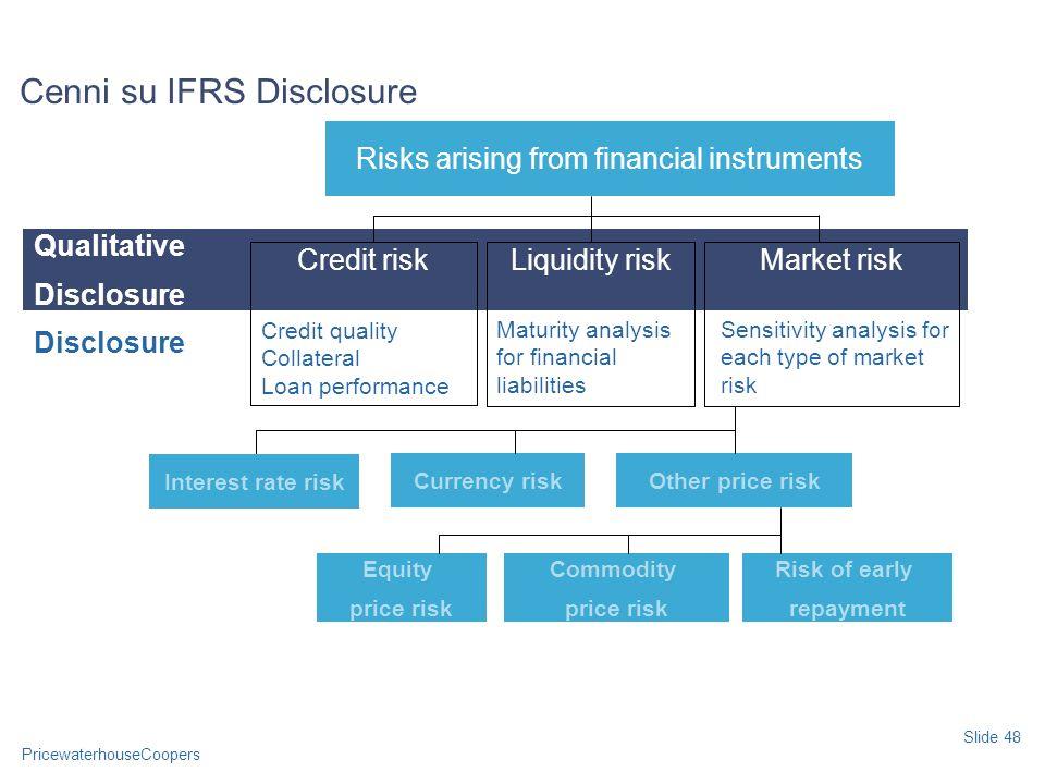Cenni su IFRS Disclosure