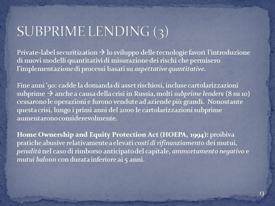 SUBPRIME LENDING (3)
