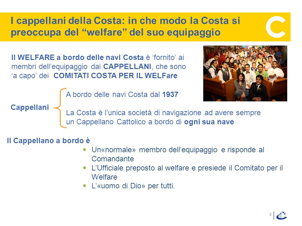In che modo la Costa si occupa del welfare a bordo
