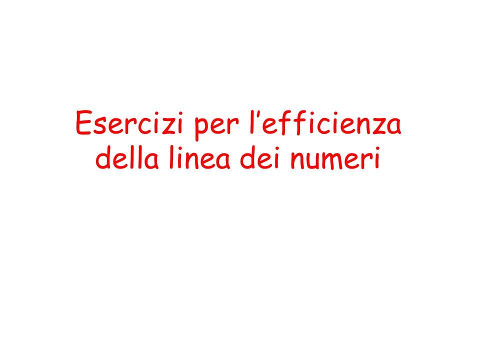 Esercizi per l'efficienza della linea dei numeri