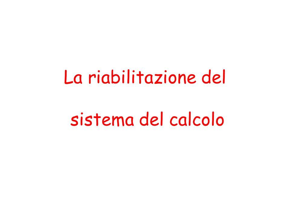 La riabilitazione del sistema del calcolo