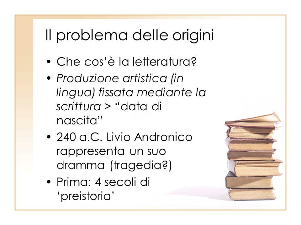 Il problema delle origini