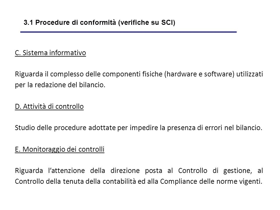 3.1 Procedure di conformità (verifiche su SCI)