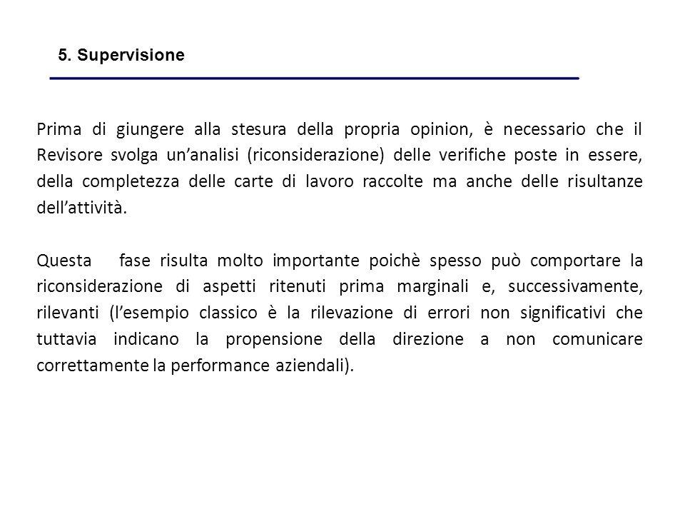5. Supervisione