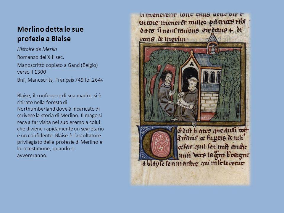 Merlino detta le sue profezie a Blaise