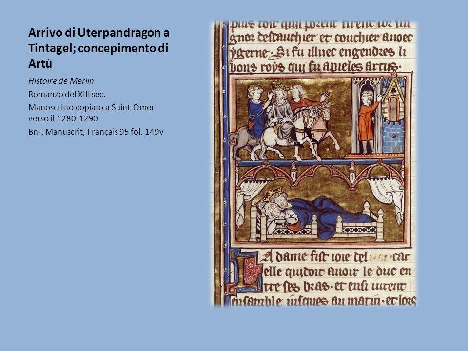 Arrivo di Uterpandragon a Tintagel; concepimento di Artù