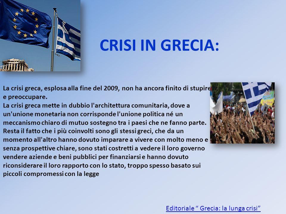 Editoriale Grecia: la lunga crisi