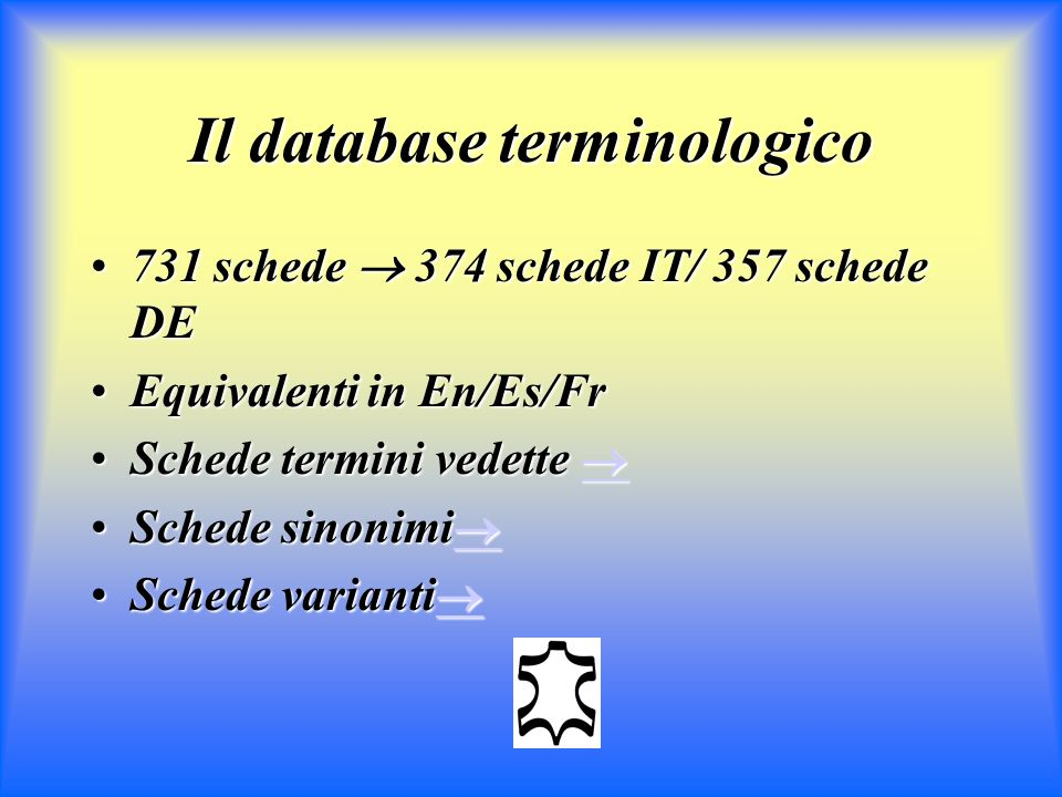 Il database terminologico