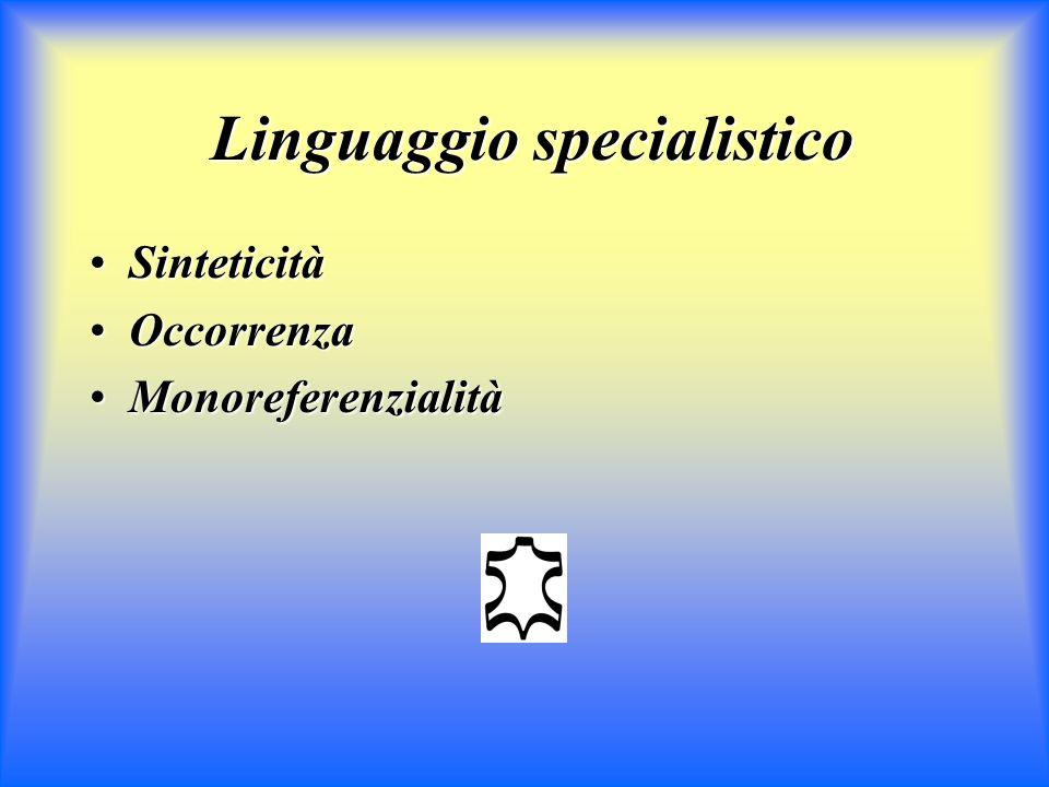 Linguaggio specialistico