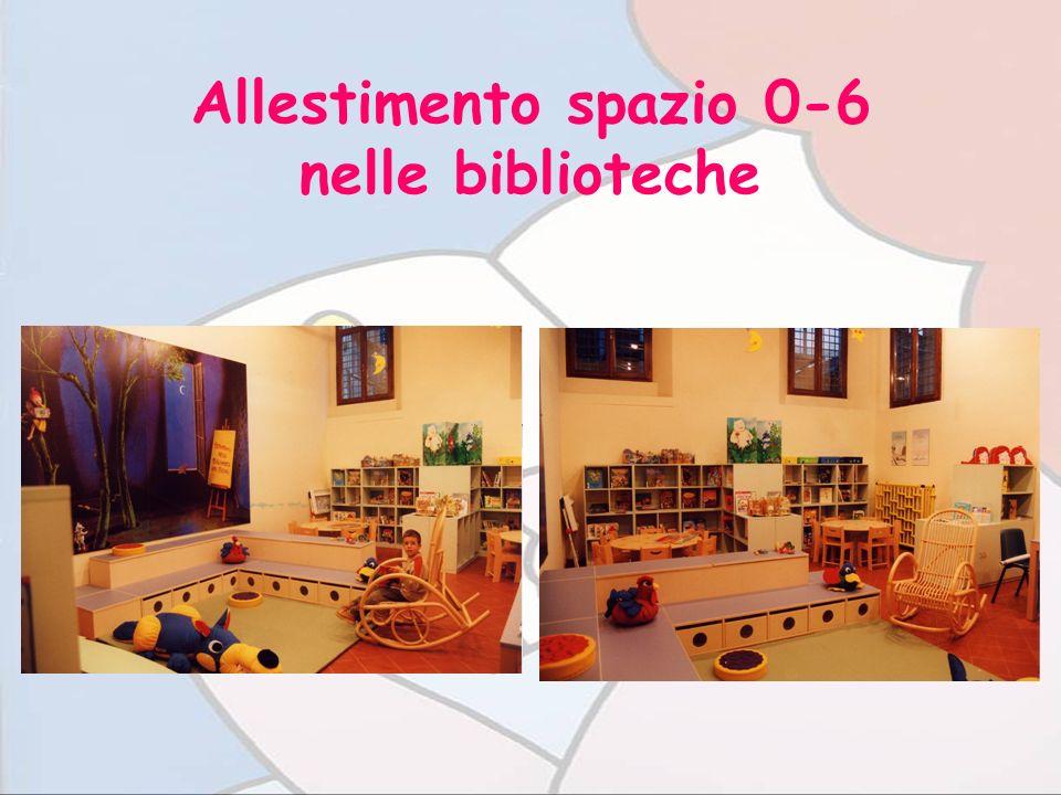Allestimento spazio 0-6 nelle biblioteche