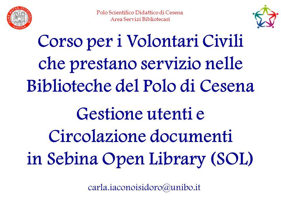 Corso per i Volontari Civili