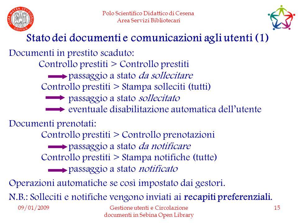 Stato dei documenti e comunicazioni agli utenti (1)