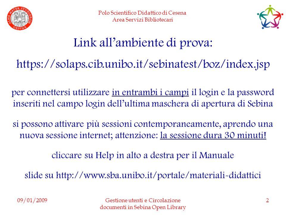 Link all'ambiente di prova: