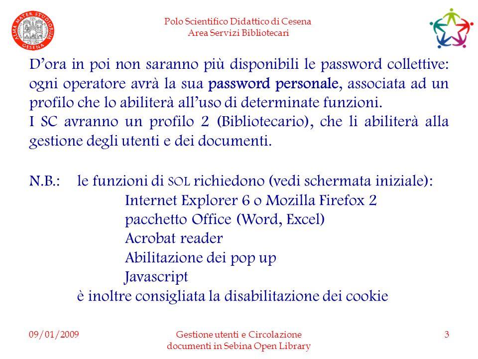 Gestione utenti e Circolazione documenti in Sebina Open Library
