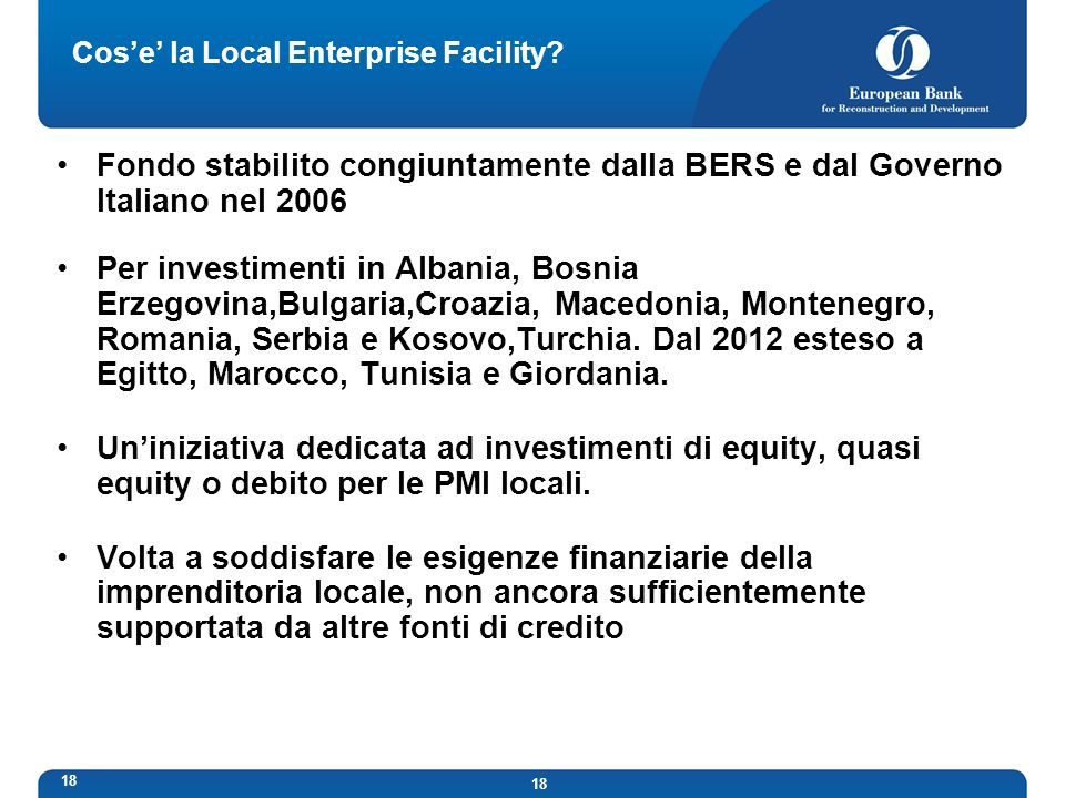 Cos'e' la Local Enterprise Facility