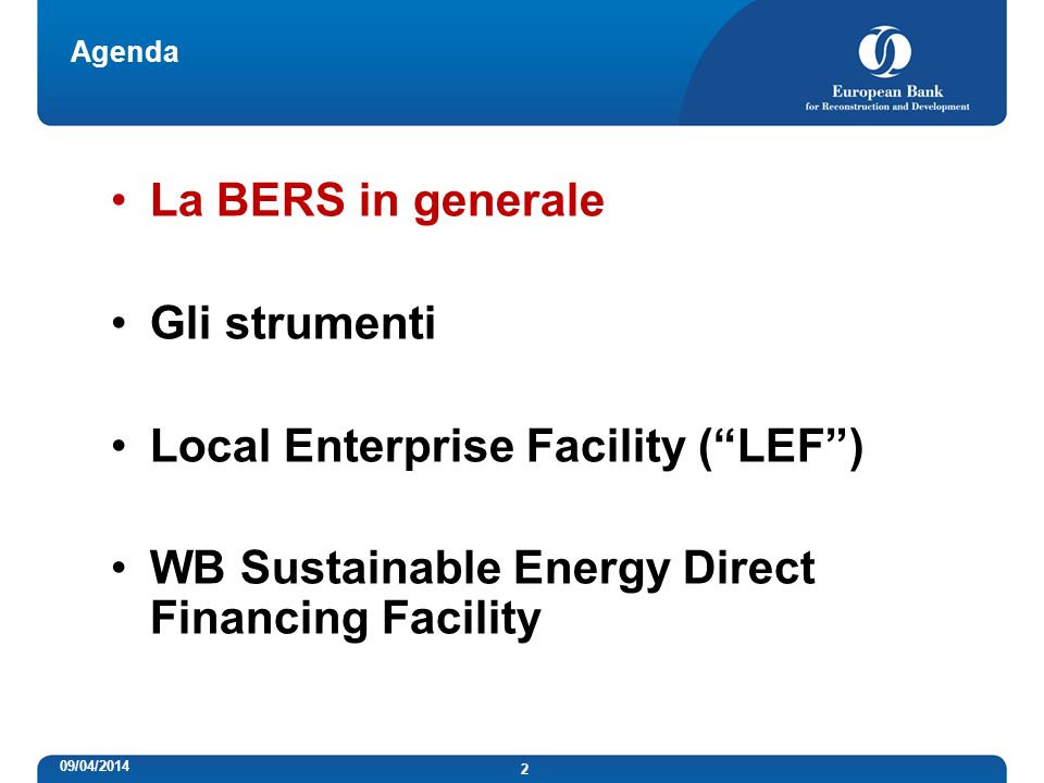 Local Enterprise Facility ( LEF )