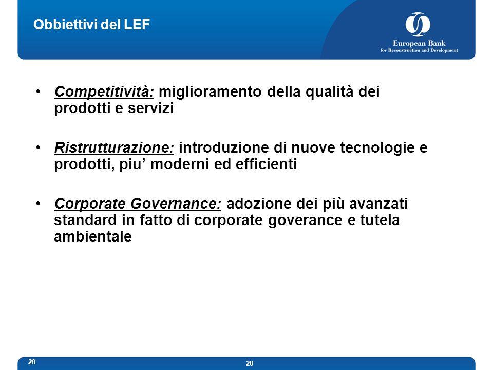 Competitività: miglioramento della qualità dei prodotti e servizi