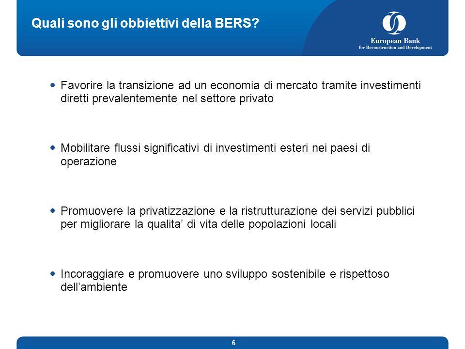 Quali sono gli obbiettivi della BERS