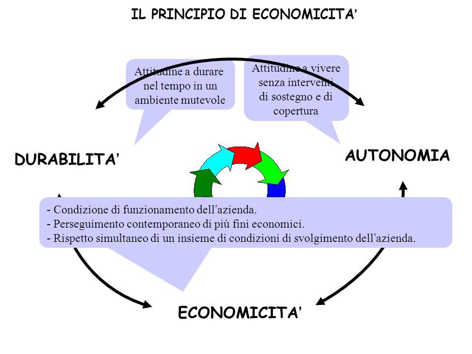 IL PRINCIPIO DI ECONOMICITA'