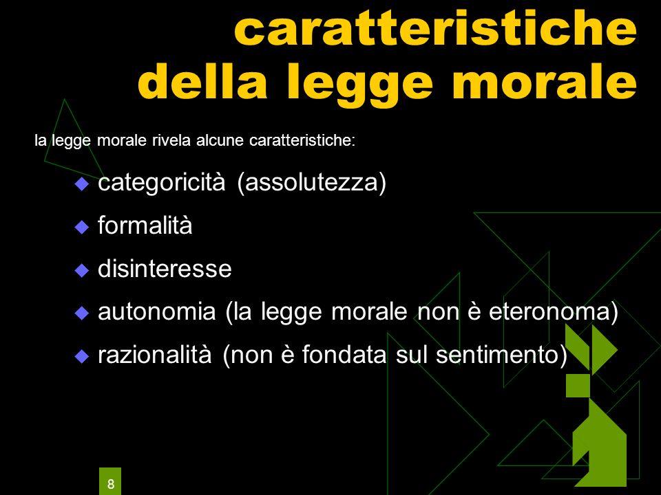 caratteristiche della legge morale