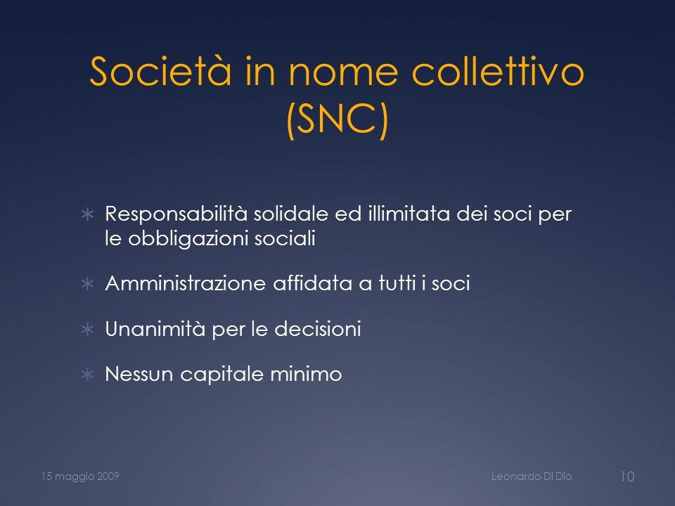 Società in nome collettivo (SNC)