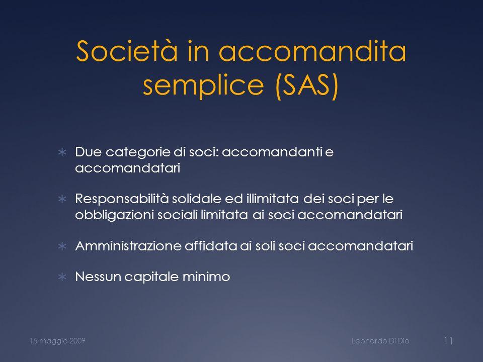 Società in accomandita semplice (SAS)