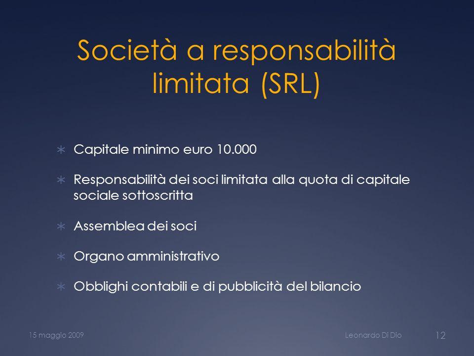 Società a responsabilità limitata (SRL)