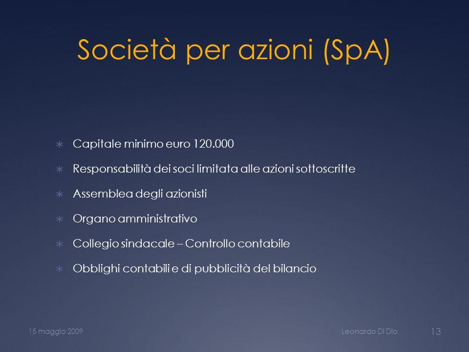 Società per azioni (SpA)