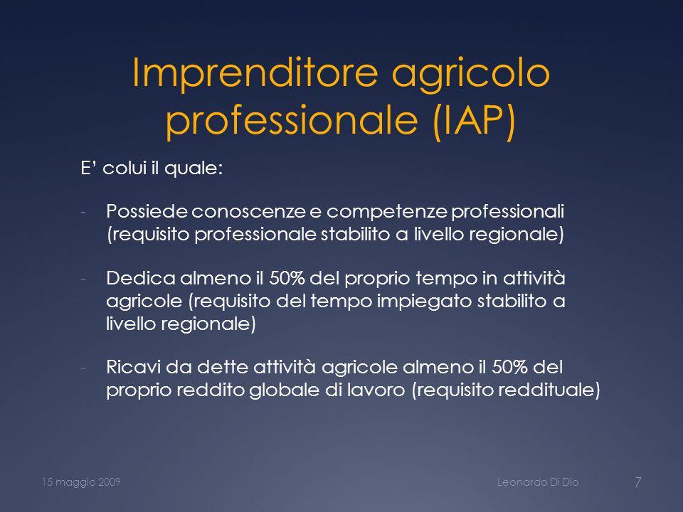 Imprenditore agricolo professionale (IAP)