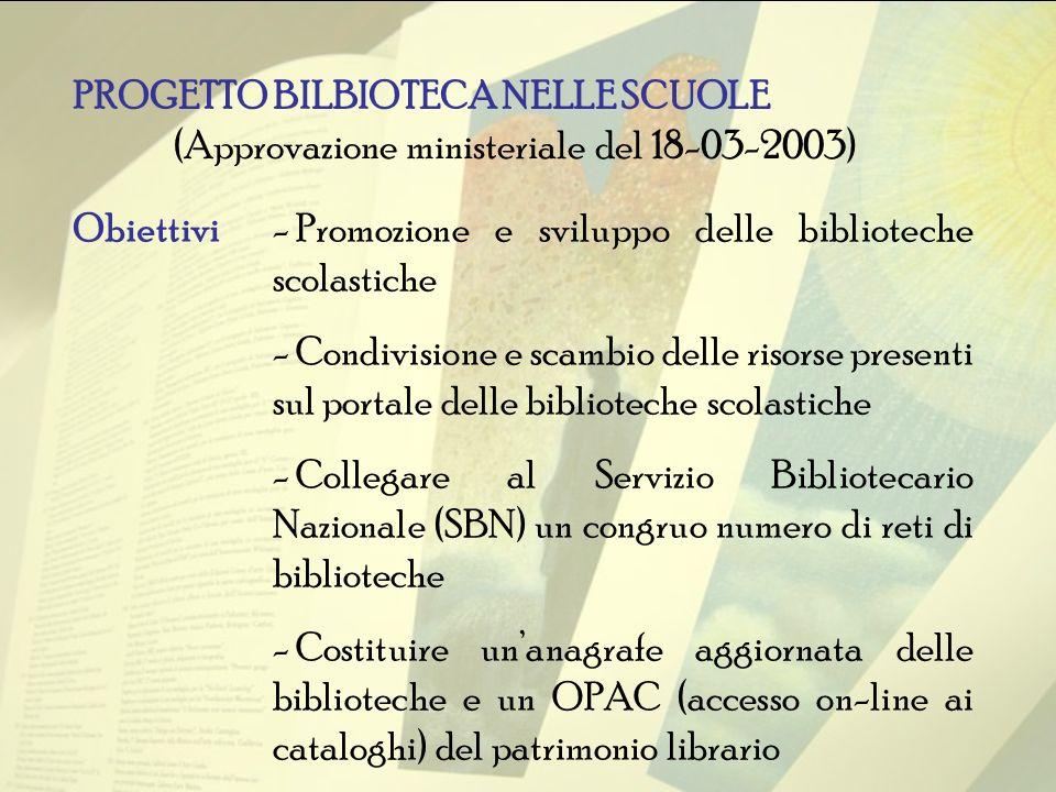 (Approvazione ministeriale del 18-03-2003)