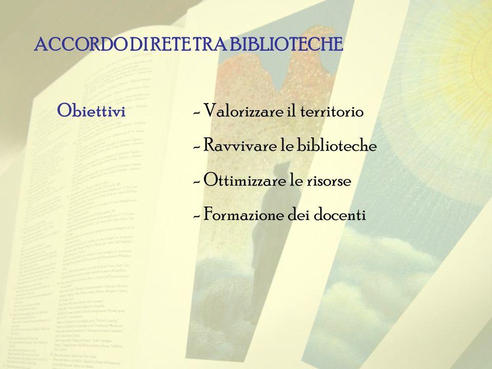 ACCORDO DI RETE TRA BIBLIOTECHE