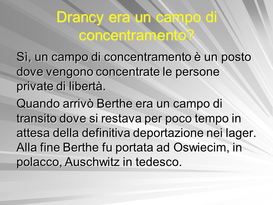 Drancy era un campo di concentramento