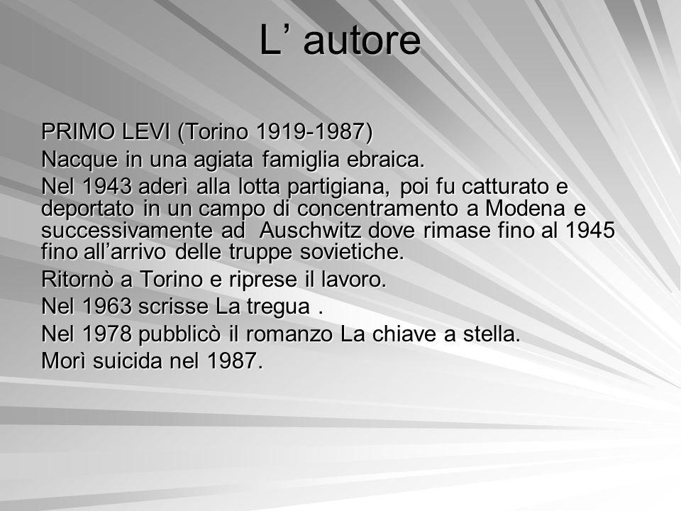L' autore PRIMO LEVI (Torino 1919-1987)