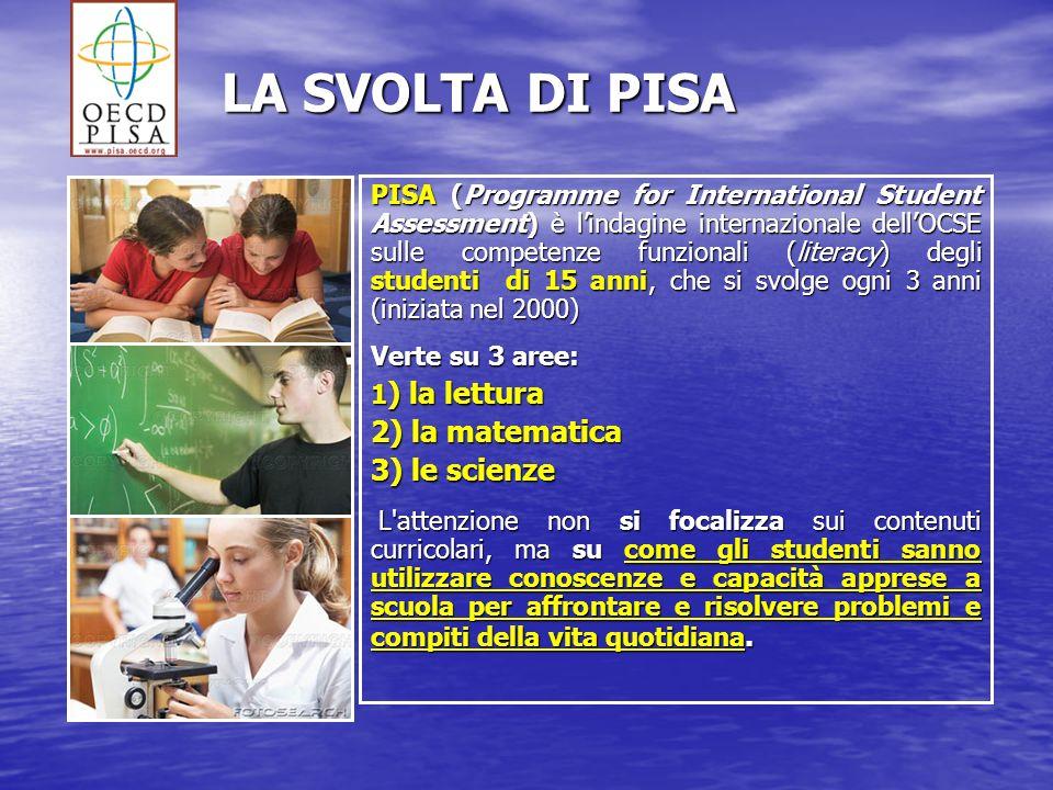 LA SVOLTA DI PISA 2) la matematica 3) le scienze
