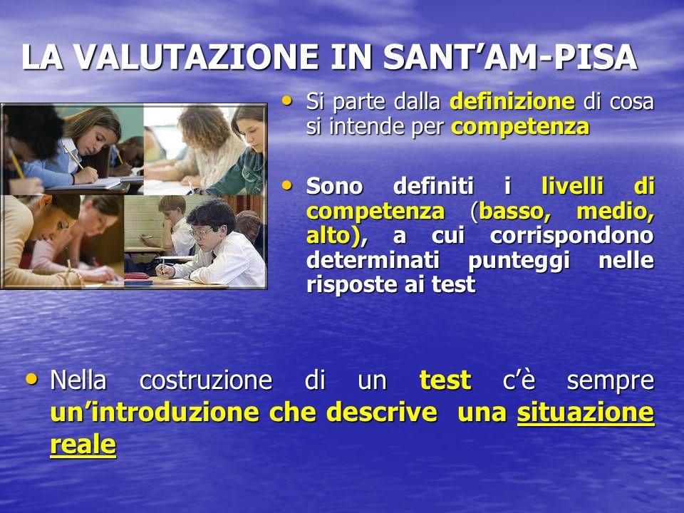 LA VALUTAZIONE IN SANT'AM-PISA